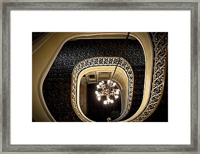 Winding Staircase - The Biddle Mansion Framed Print