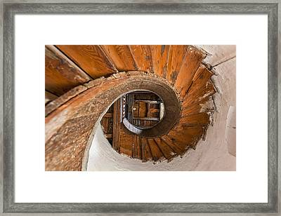 Winding Stairs, Upnor Castle  Kent Framed Print by Doug McKinlay