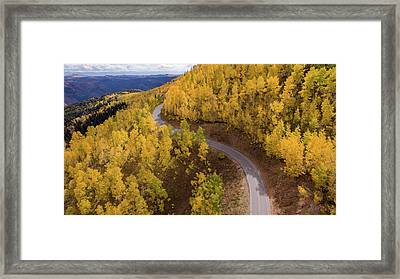 Framed Print featuring the photograph Winding Through Fall by Wesley Aston