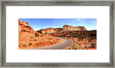 Winding Through The Waterpocket Framed Print by Adam Jewell
