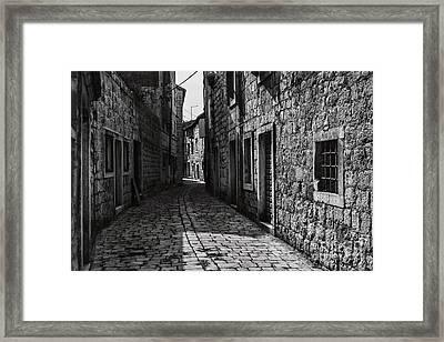 Winding Walkways Framed Print