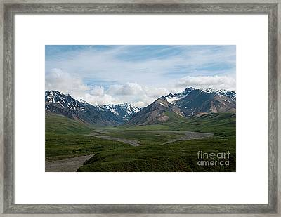 Winding Water Ways Framed Print