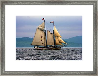 Windjammer Lewis R French Framed Print by Jim Beckwith