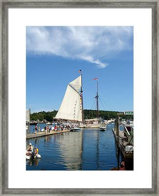 Windjammer Reflection Framed Print