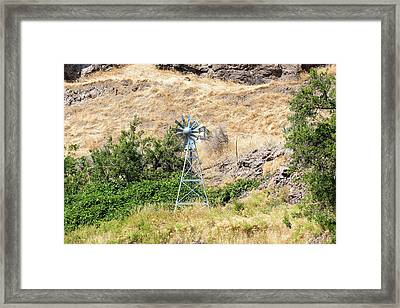 Windmill Aerator For Ponds And Lakes Framed Print