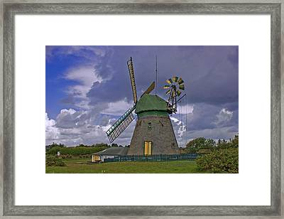 Windmill Amrum Germany Framed Print