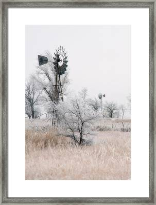 Windmill Antithesis Framed Print by Fred Lassmann