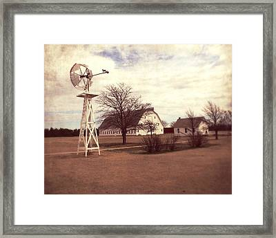 Windmill At Cooper Barn Framed Print by Julie Hamilton