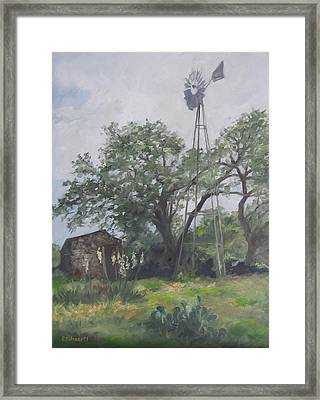 Windmill At Genhaven Framed Print by Connie Schaertl