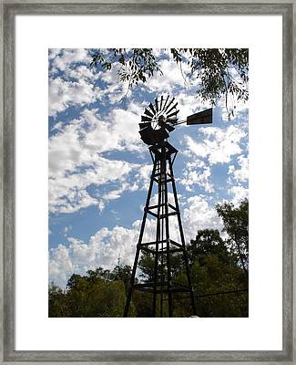 Windmill At The Arboretum Framed Print by Marilyn Barton