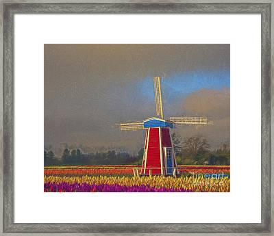 Windmill Framed Print by Billie-Jo Miller