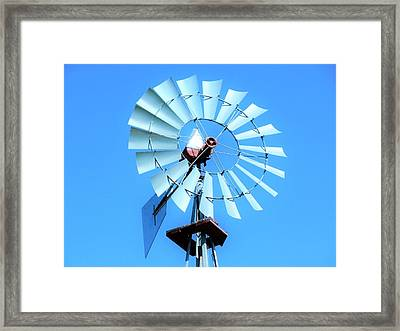 Framed Print featuring the photograph Windmill - Bright Sunny Day by Ray Shrewsberry