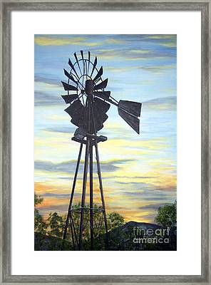Windmill Capture The Wind Framed Print by Judy Filarecki