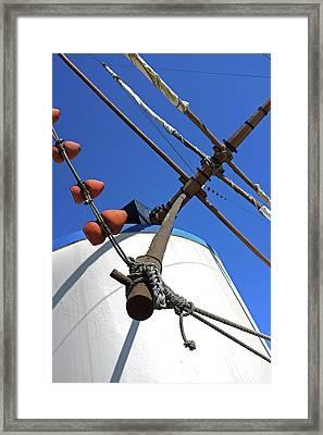 Windmill Detail Framed Print by Carlos Caetano