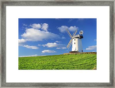 Windmill Framed Print by Drew McAvoy