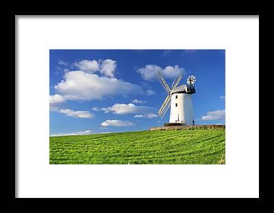 Windmill Framed Prints