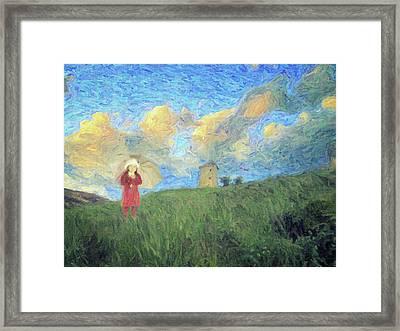 Windmill Girl Framed Print