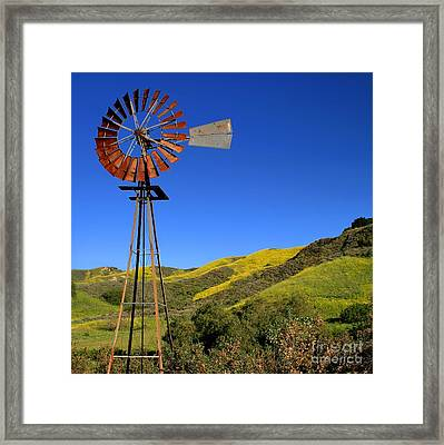 Framed Print featuring the photograph Windmill by Henrik Lehnerer