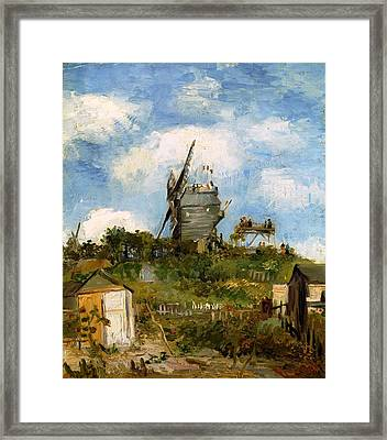 Windmill In Farm Framed Print