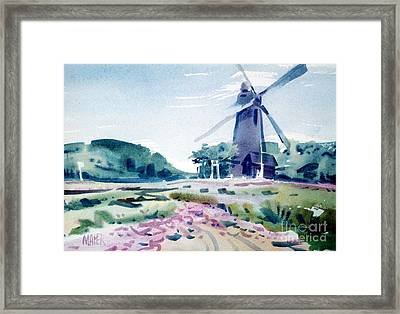 Windmill In Golden Gate Park Framed Print by Donald Maier