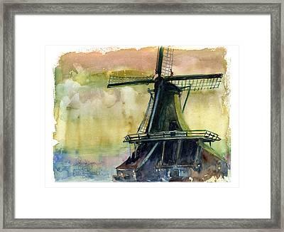 Windmill Framed Print by John D Benson
