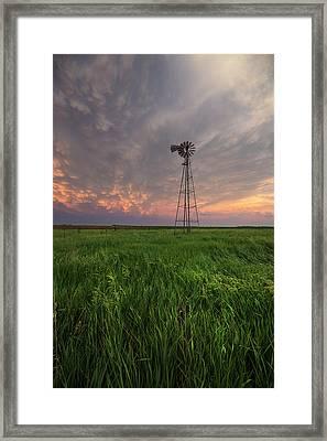 Framed Print featuring the photograph Windmill Mammatus by Aaron J Groen