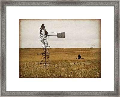 Framed Print featuring the digital art Windmill by Margaret Hormann Bfa