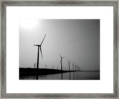 Windmill Framed Print by Nadia Hung