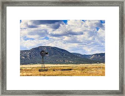 Windmill New Mexico Framed Print