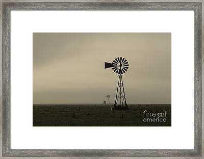 Windmill Perspective Framed Print by Fred Lassmann