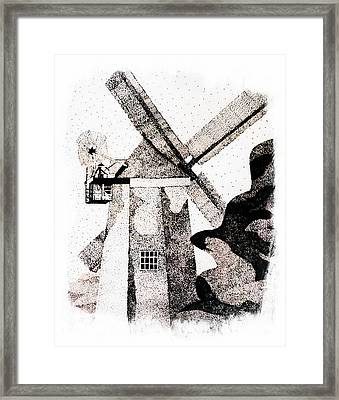 Windmill Points Framed Print