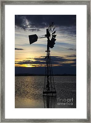 Windmill Qill Lake Saskatchewan Framed Print