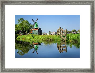 Windmill Reflection Framed Print