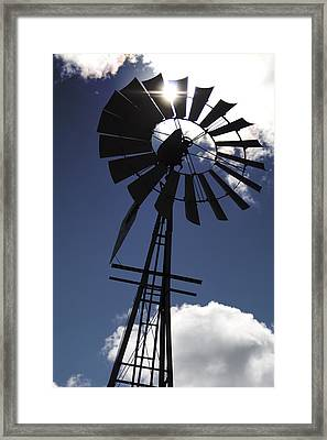 Windmill Silhouette  Framed Print by Kandie  Kingery
