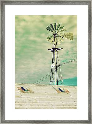 Windmill Stain Framed Print