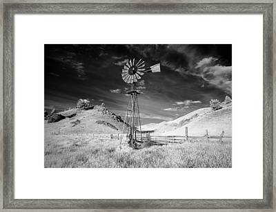 Windmill Stained Framed Print
