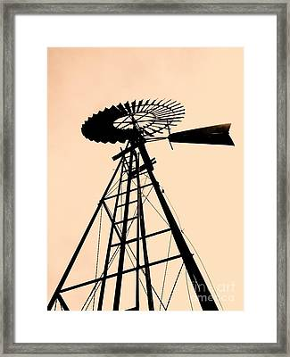 Windmill Standing Tall Framed Print by Christine Belt