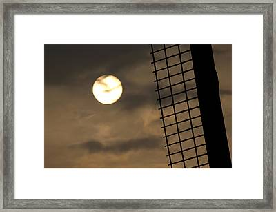 Windmill Sunset Silhouette Framed Print by Andy Smy