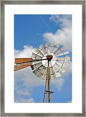Windmill Framed Print by Teresa Blanton