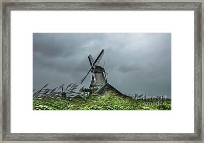 Windmill The Huisman  Framed Print by Adriana Zoon