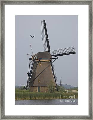 Windmills At Dusk Framed Print by Andy Smy
