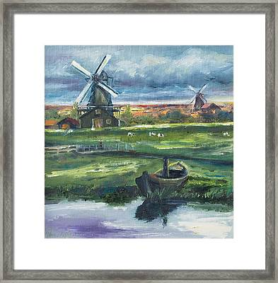 Windmills Framed Print by Rick Nederlof