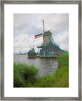 Windmills Zaanse Schans Framed Print