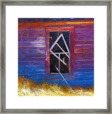 Framed Print featuring the photograph Window-1 by Susan Kinney