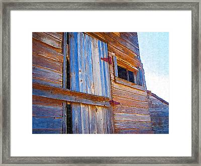 Framed Print featuring the photograph Window 3 by Susan Kinney