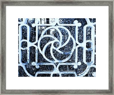 Framed Print featuring the photograph Window #4 Myknonos Blue Angeloffj by Joy Angeloff