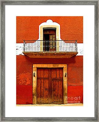 Window Above The Wooden Door Framed Print by Mexicolors Art Photography