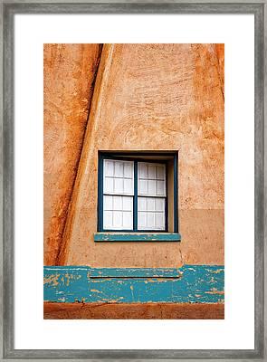 Window And Adobe Walls Framed Print