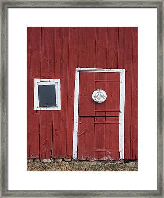 Window And Door Framed Print by Robert Sander