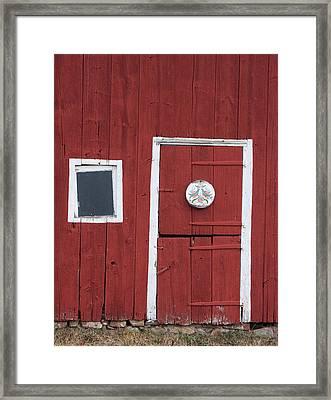 Window And Door Framed Print by Robert Sander